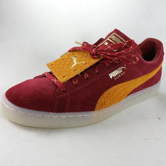 sports shoes d7664 42a49 PUMA Suede Classic Remix Tibetan Red/inca Gold NWT